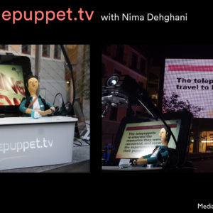 Nima's puppet is the newsman