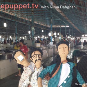 The telepuppets then travelled to  Iran and visited the sites that our immigrant friends missed