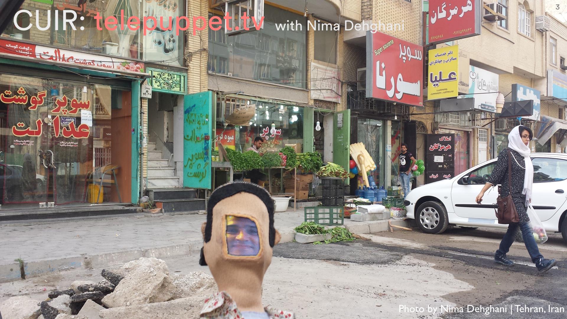 Telepuppet visits our friend's favorite shop