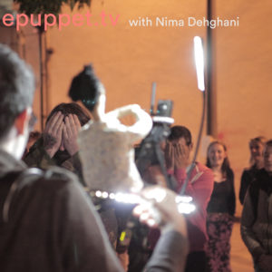 Telepuppets come back to Liverpool to do a participatory public projection performance